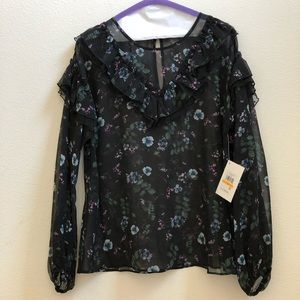 Winter Night Sheer Blouse